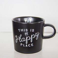 Happy place ceramic mug