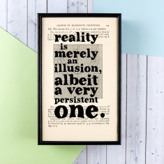 Albert Einstein Reality Is Merely An Illusion Quote - Book Page Print