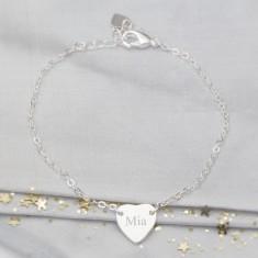 Personalised Initial Heart Bridesmaid Bracelet