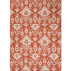 Orange rust flat weave wool rugs