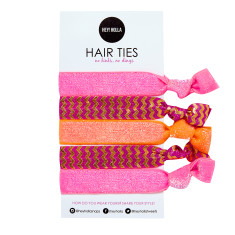 No Kink hair ties in juicy print
