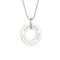 Julia personalised sterling silver pendant