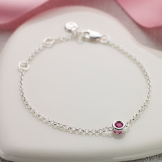 July birthstone bracelet in ruby