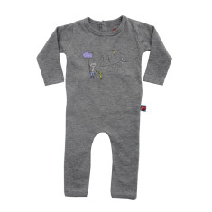 Fishing boy long sleeve jumpsuit
