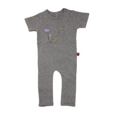 Fishing boy short sleeve jumpsuit