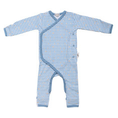 Baby jumpsuit in blue harlequin