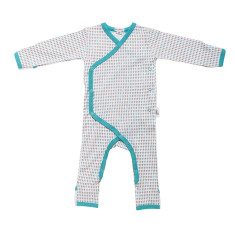 Baby jumpsuit in grey harlequin