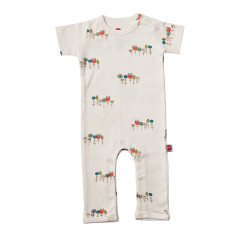 Wildflowers short sleeve jumpsuit