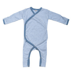 Baby jumpsuit in blue summer rain