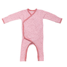 Baby jumpsuit in pink summer rain