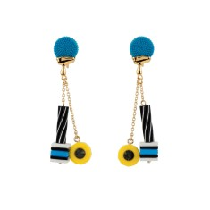 Liquorice Allsorts and Chain Earrings