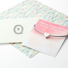 Personalised Small Heart Friendship Bracelet