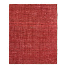 Jute flame red rug