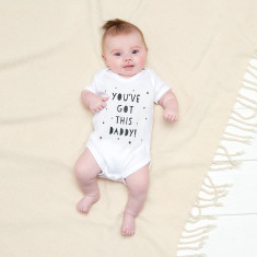 You've got this daddy baby suit