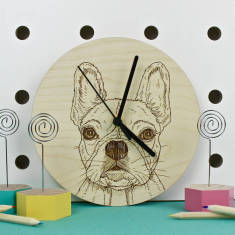 French Bulldog Portrait Clock