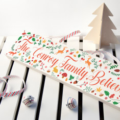 Personalised Christmas Woodland Mantle Decoration
