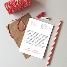 Funny letter from Santa recycled Christmas cards (pack of 6)