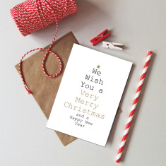 We wish you a merry Christmas cards (pack of 6)