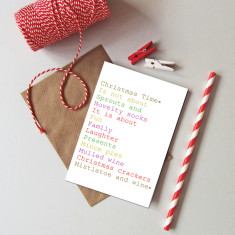 Humorous Christmas cards (pack of 6)