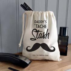 Men's Personalised ''Tache Stash' Canvas Bag