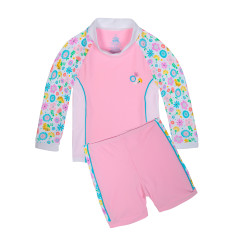 Girls' UPF 50+ Bloom Baby Sunset LS