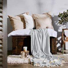 Moroccan Throw in Antique Grey
