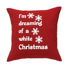 I'm dreaming of a white Christmas handmade cushion cover