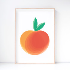 Summerset Peach Art Print