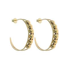 Chloe hoop earrings in gold