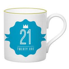 Twenty one birthday mug