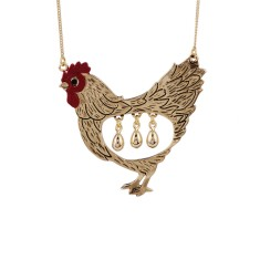 The goose that laid the golden eggs necklace