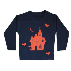Halloween Haunted House Kids T shirt