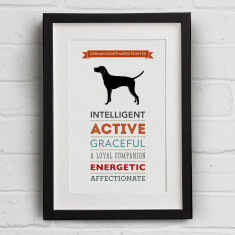 German Shorthaired Pointer Dog Breed Traits Print