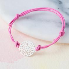 Silver circle mosaic bracelet