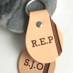Personalised Monogram/initials leather key ring
