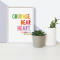 CS Lewis courage dear heart - framed children's mini print