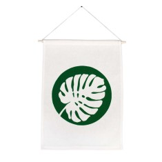 Monstera leaf handmade wall banner