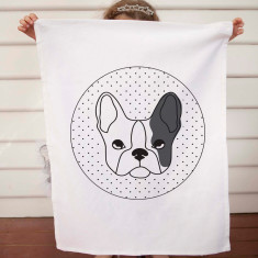 Dog design DIY tea towel kit