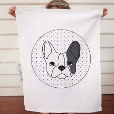 Dog design DIY tea towel kit