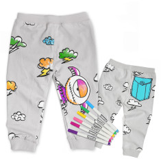 Monster blue pocket pants colouring kit