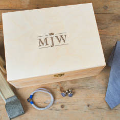 Mens Monogrammed Accessory Box