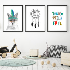 Free spirit art prints (set of 3)