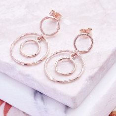 Jaisalmer circle earrings in rose gold plate