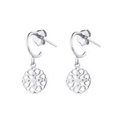 Mandala Hoops In Silver