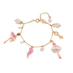 Pink and Crystal Ballerina Bracelet