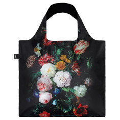 LOQI reusable bag in museum collection in still life with flowers