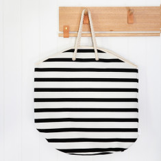 Extra Large Striped Tote