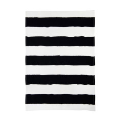 Black & white stripe tea towel (single)