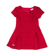 Girl's quilted dress in red