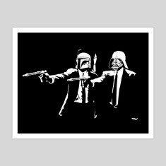 Darth Fiction art print
